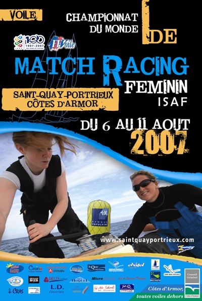 Affiche du Championnat du monde Match Racing Féminin 2007