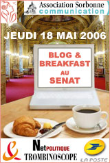 Blog and Breakfast au Sénat