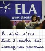 Dictée ELA 2006