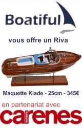 Carènes Moteurs et Boatiful vous offrent un Riva !