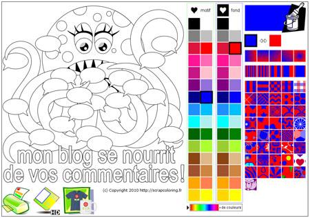 générateur de petits monstres à vos couleurs