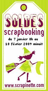 Soldes chez Scrapinette, la boutique du scrapbooking