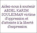Appel pour Souleiman, blogueur emprisonné en Egypte