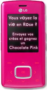 participez au jeu et gagnez un pink chocolate