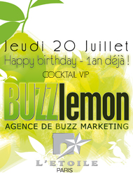 Invitation Soiree Anniversaire Buzz lemon